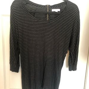 Banana Republic striped top with back zipper.  S.